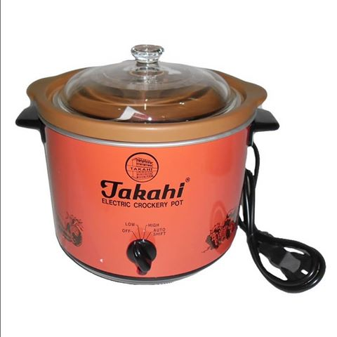 TAKAHI 3102(R) Electric Crockery Pot (Red) HR, 1.2-Litre