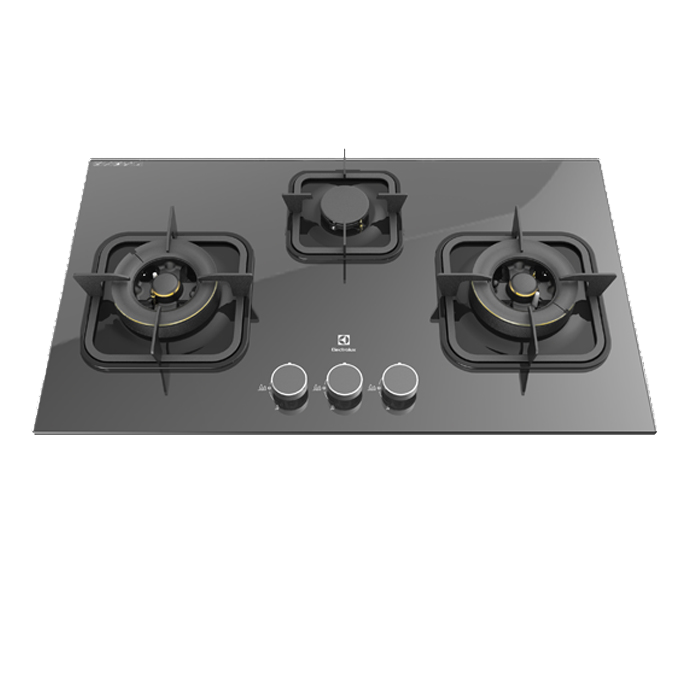 Electrolux Egt7836egp 78cm Potenza Gas Hob With 3 Burners